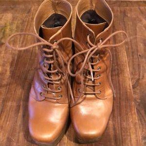 Platform lace up ankle boots